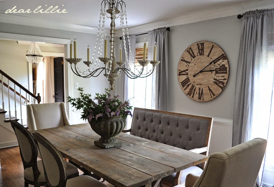 Our Updated Dining Room with a New Farmhouse Table and Rolling ...