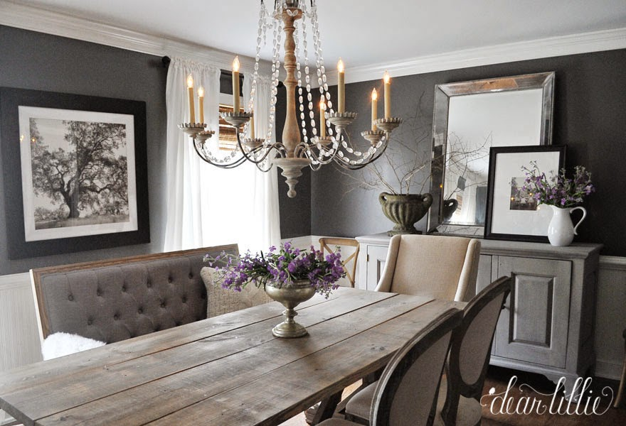 Kendall Charcoal In Our Dining Room Dear Lillie Studio
