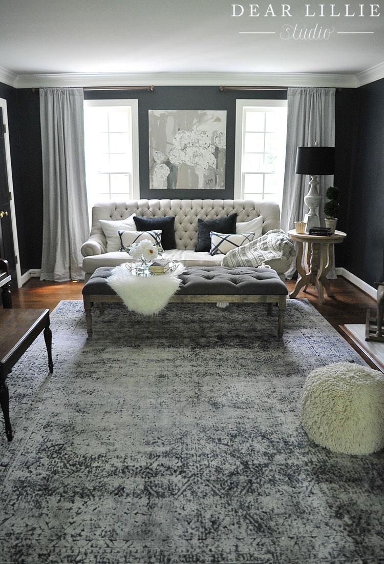 jenni 39 s home living room dear lillie studio. Black Bedroom Furniture Sets. Home Design Ideas