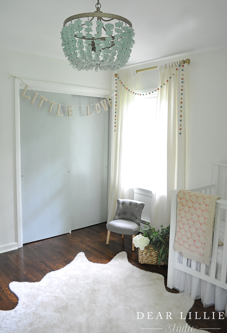 A Sweet And Whimsical Nursery For Lila Grey Dear Lillie Studio White Faux Rug Cowhide